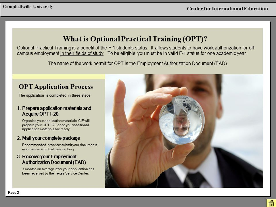 What is Optional Practical Training (OPT)