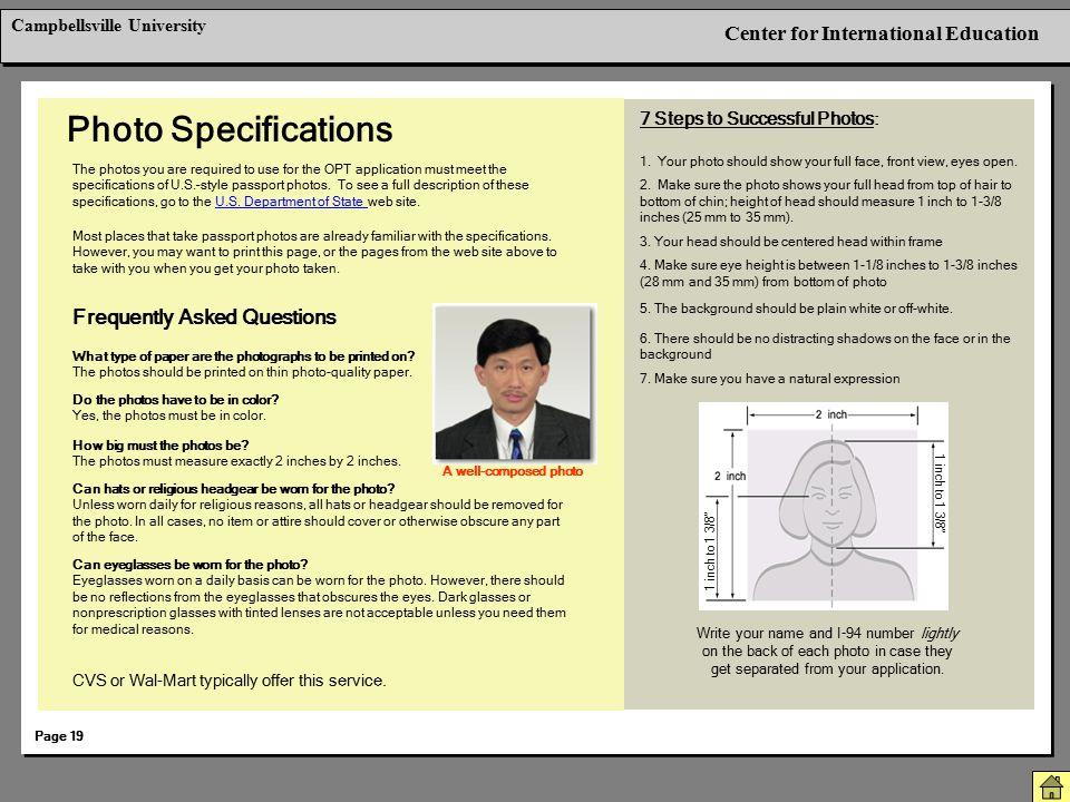 Photo Specifications Berkeley International Office