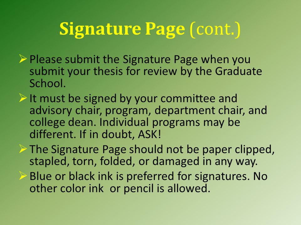 Signature Page (cont.)