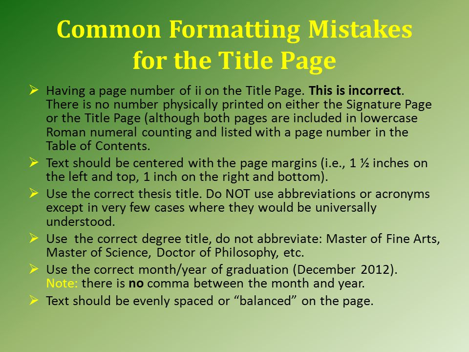 Signature Page (cont.) Please submit the Signature Page when you submit your thesis for review by the Graduate School.