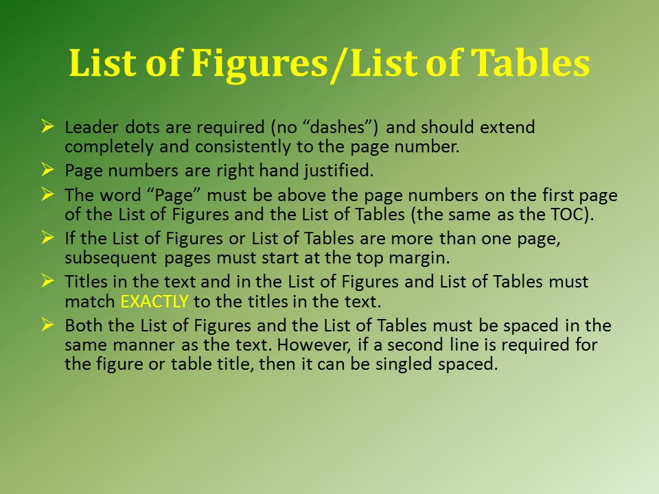 Table of Contents Type the word Page above each column of page numbers if you have more than one page in the TOC.