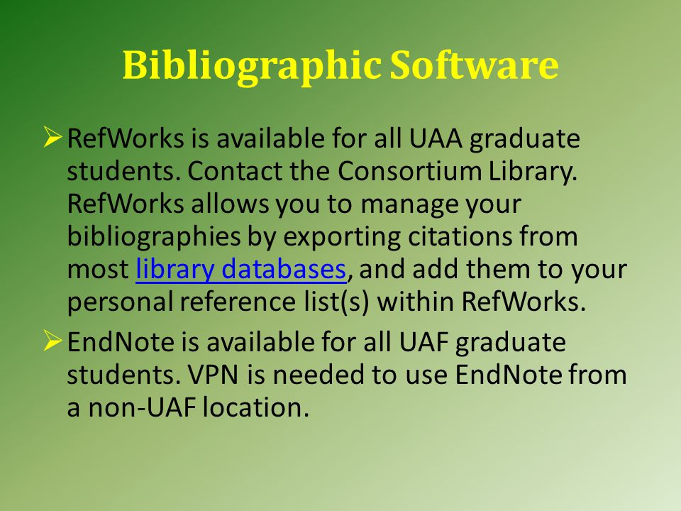 References, Literature Cited, etc.