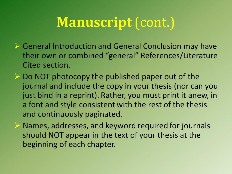 Monograph Authorship.