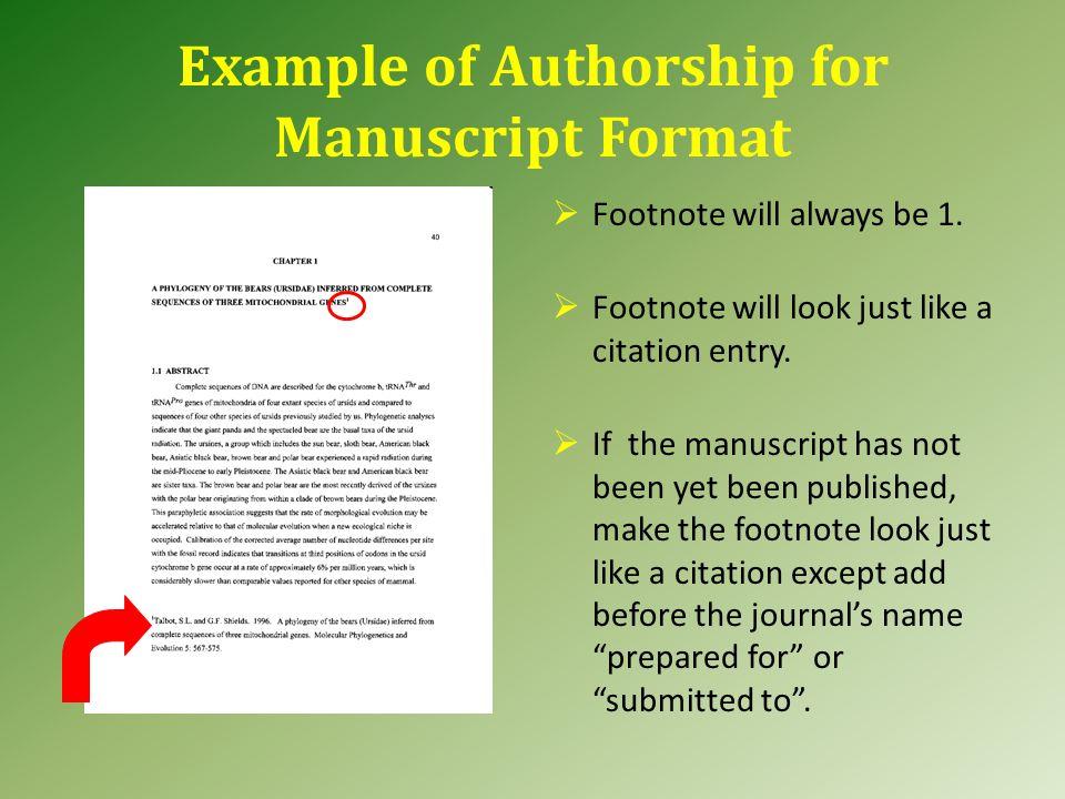 Manuscript Authorship Arrangement of Pages Abstract