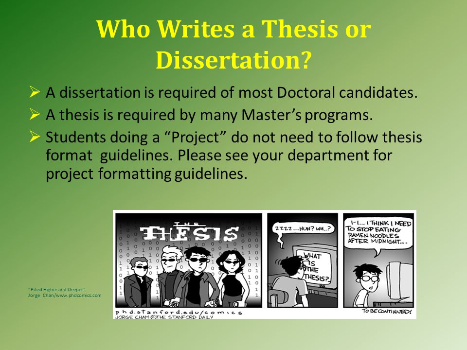 1.0 Introduction: About Theses & Dissertations