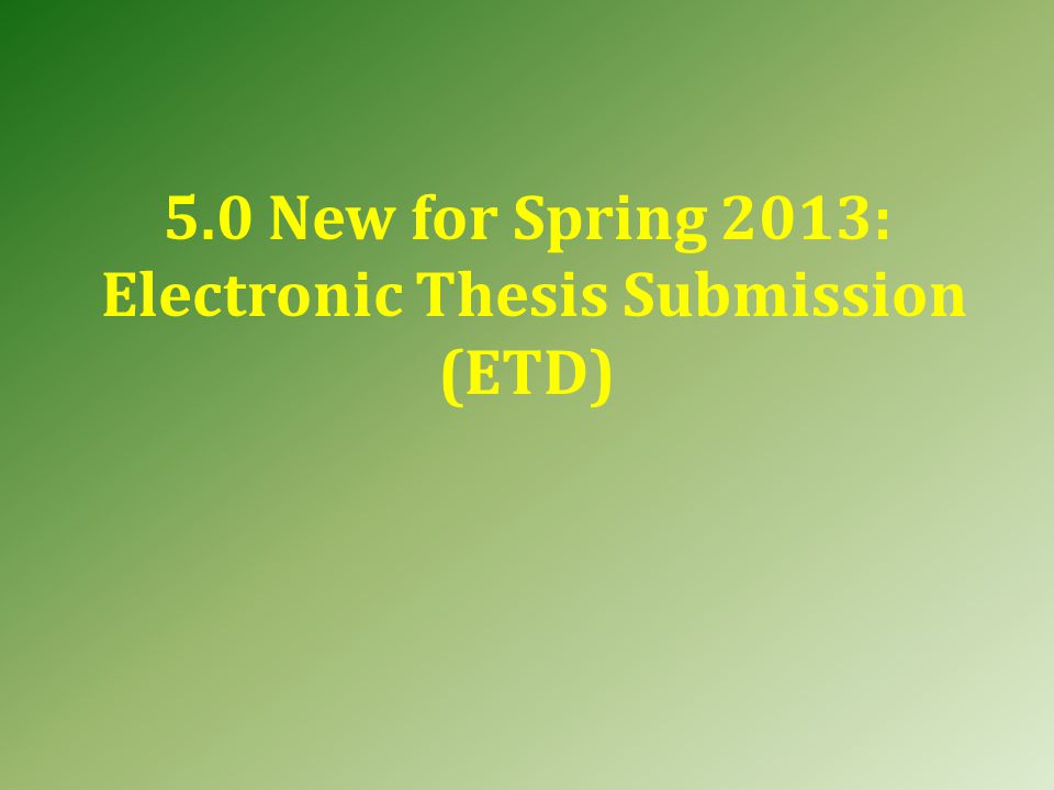 Doctoral Students also need to submit: