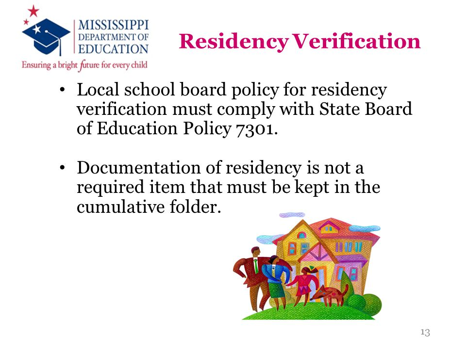 Residency Verification