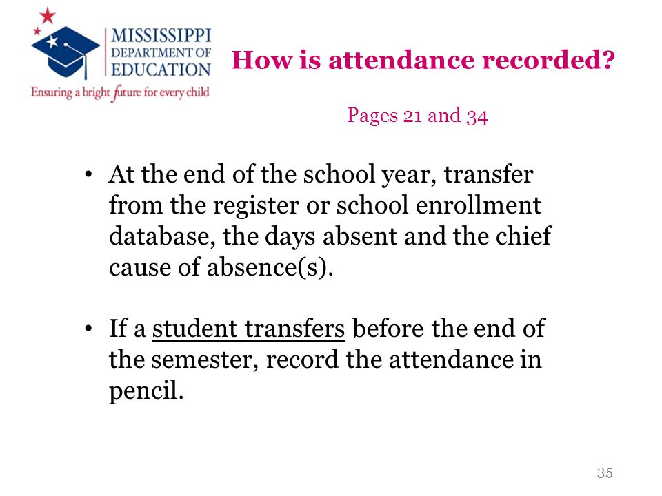 How is attendance recorded