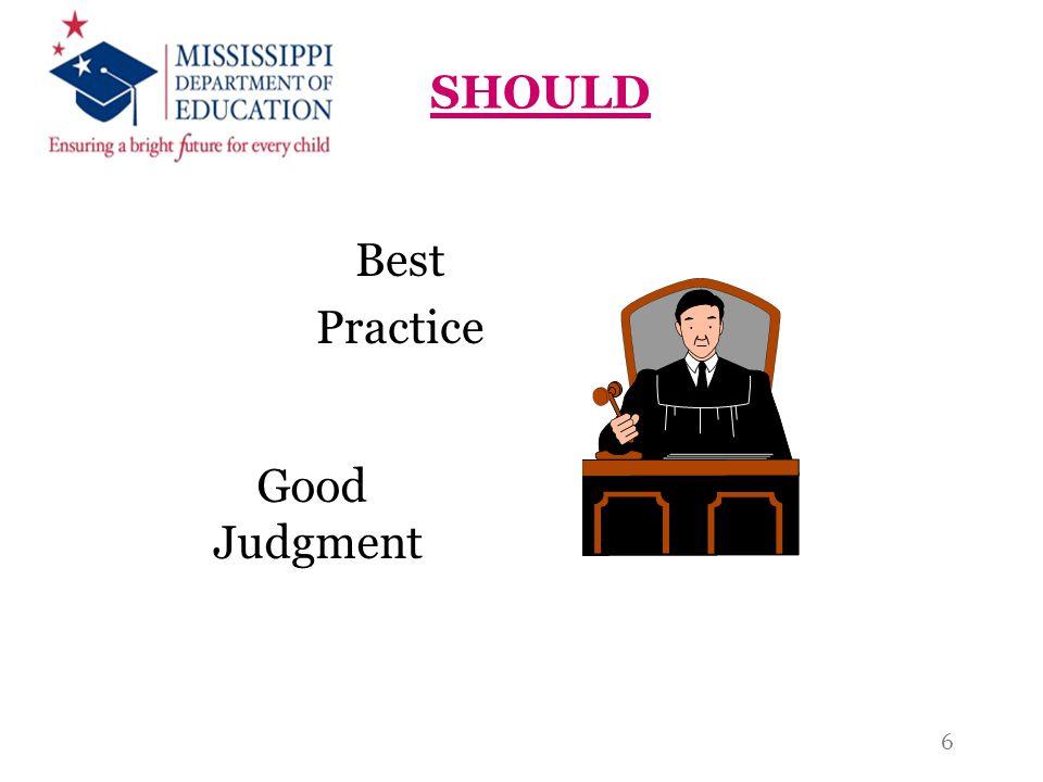 SHOULD Best Practice Good Judgment 6