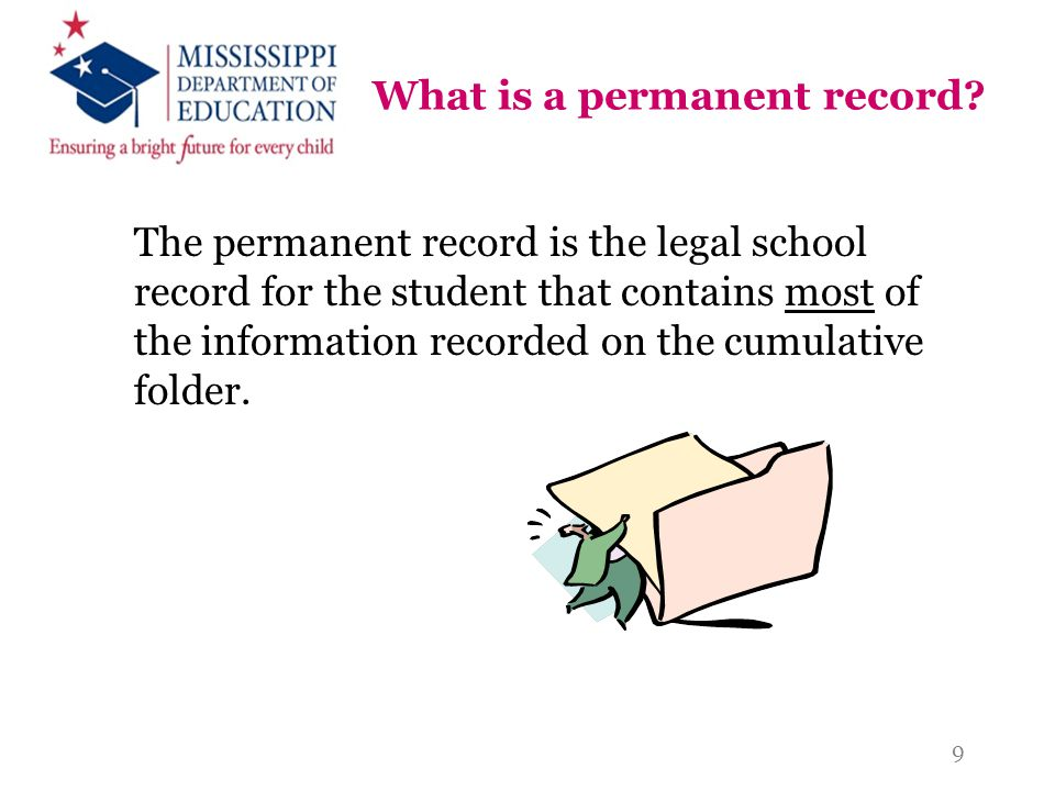 What is a permanent record