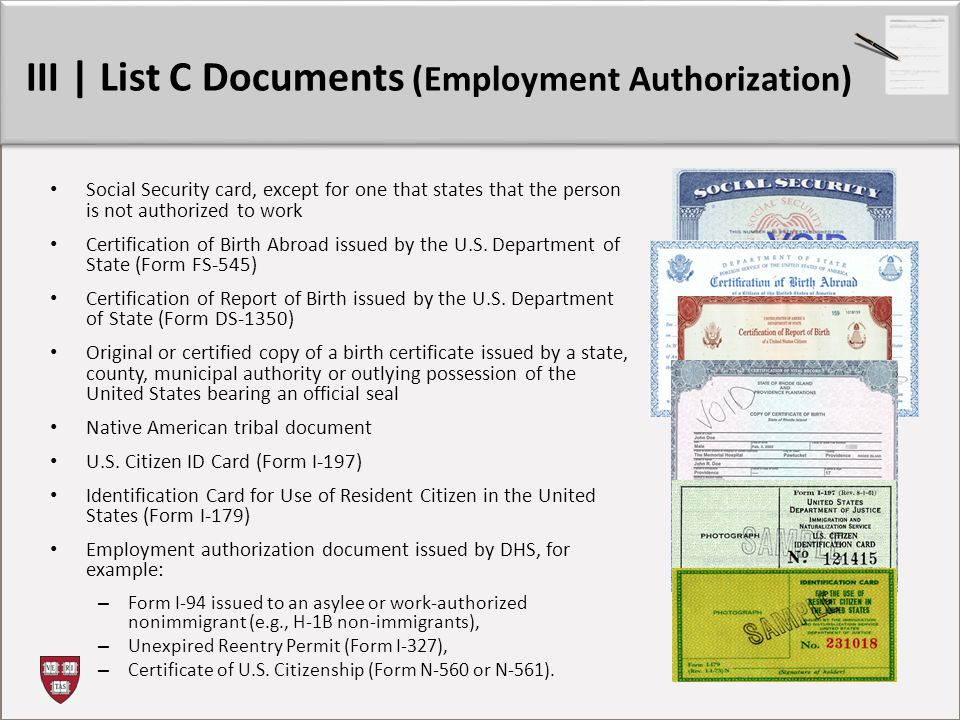 Form I-9: Refresher Training - Ppt Video Online Download