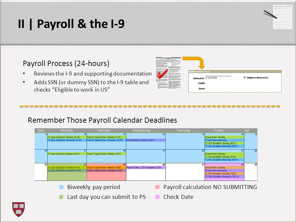II | Payroll & the I-9 Payroll Process (24-hours)