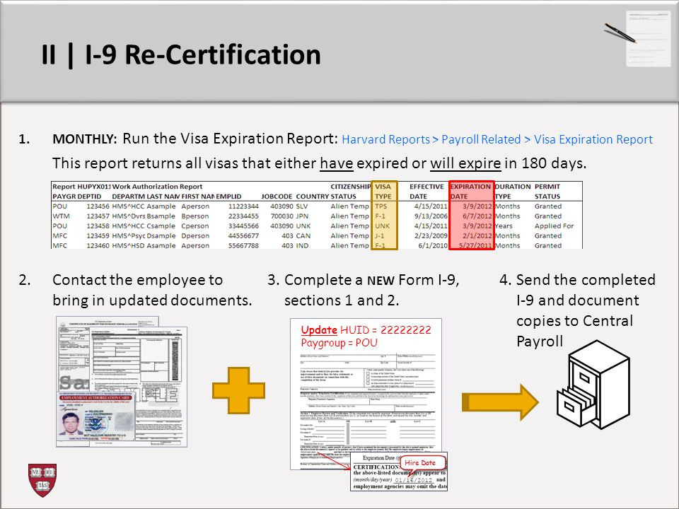 II | I-9 Re-Certification