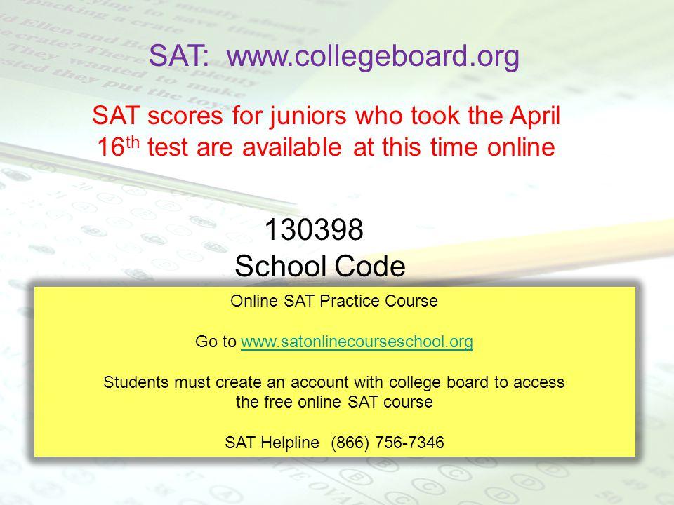 SAT: www.collegeboard.org