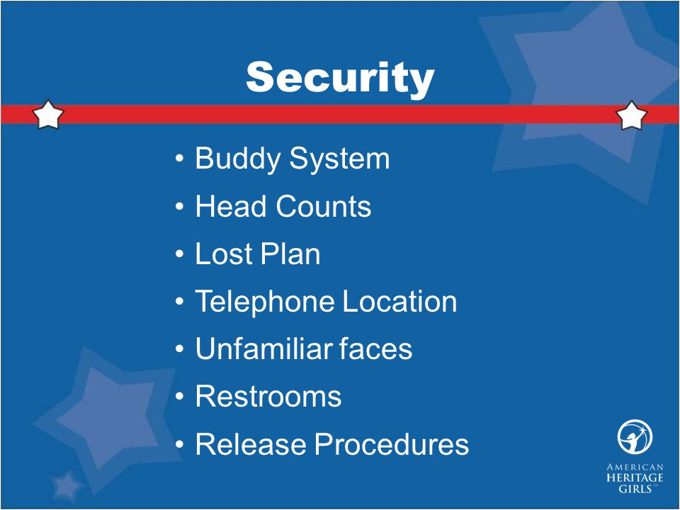 Security Buddy System Head Counts Lost Plan Telephone Location