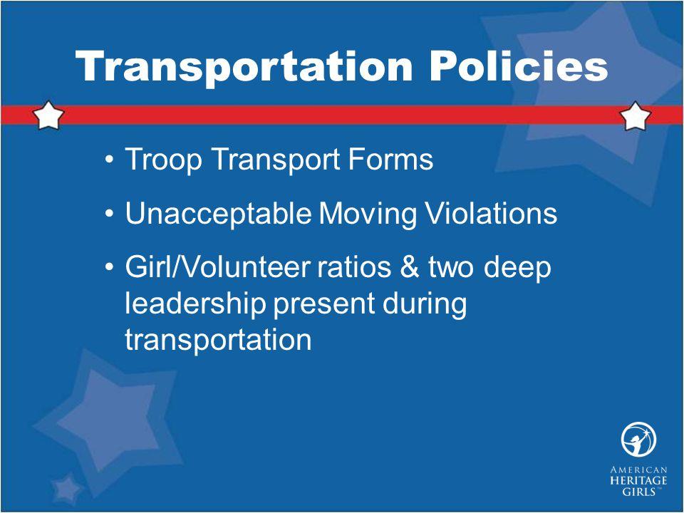 Transportation Policies