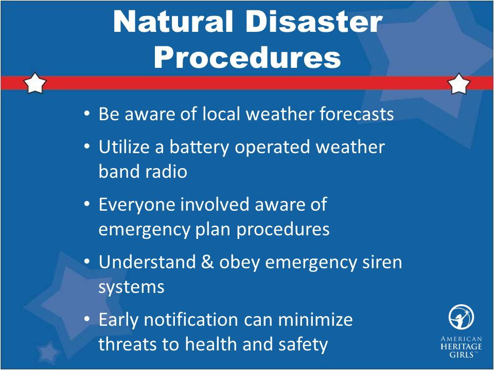 Natural Disaster Procedures