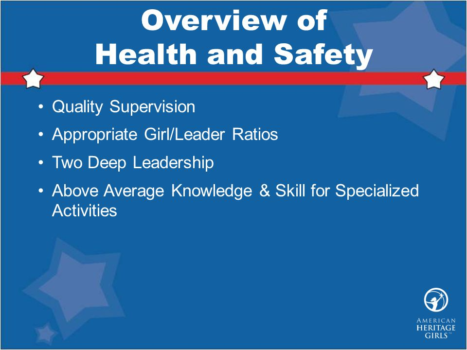 Overview of Health and Safety