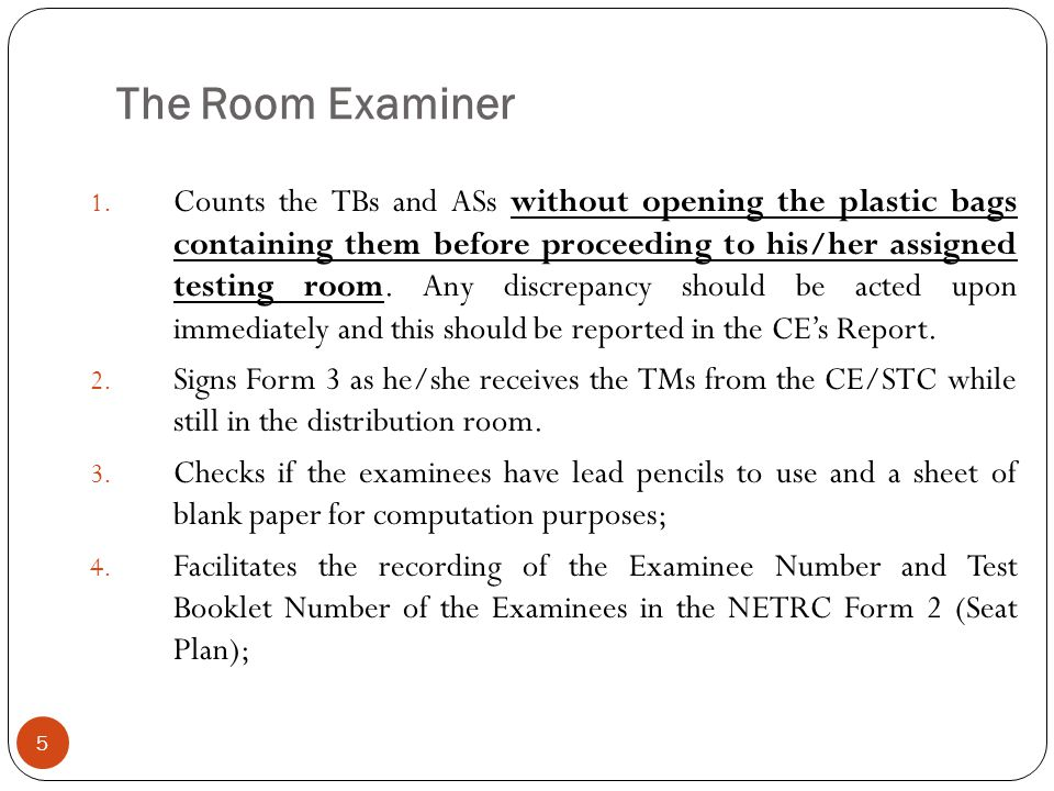 The Room Examiner