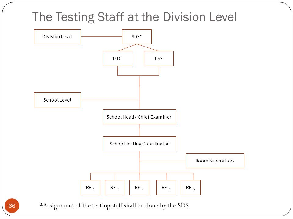 The Testing Staff at the Division Level