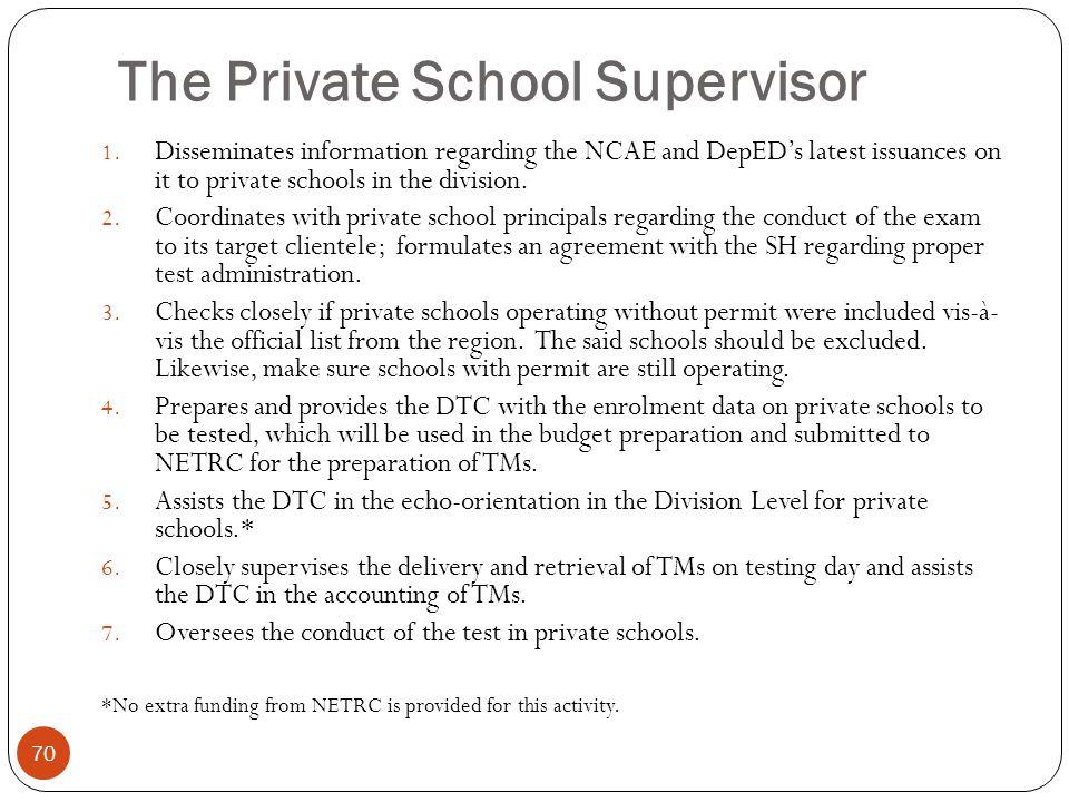 The Private School Supervisor