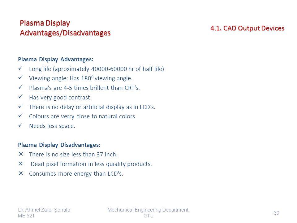 Plasma Display Advantages/Disadvantages