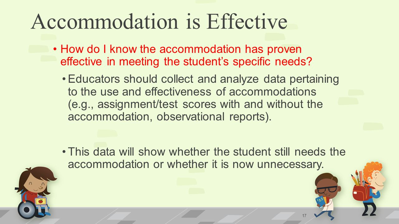 Accommodation is Effective