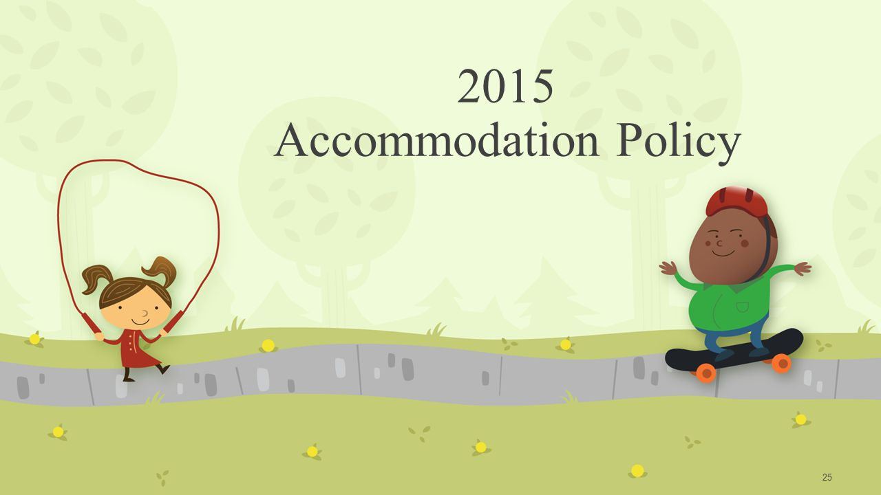 2015 Accommodation Policy