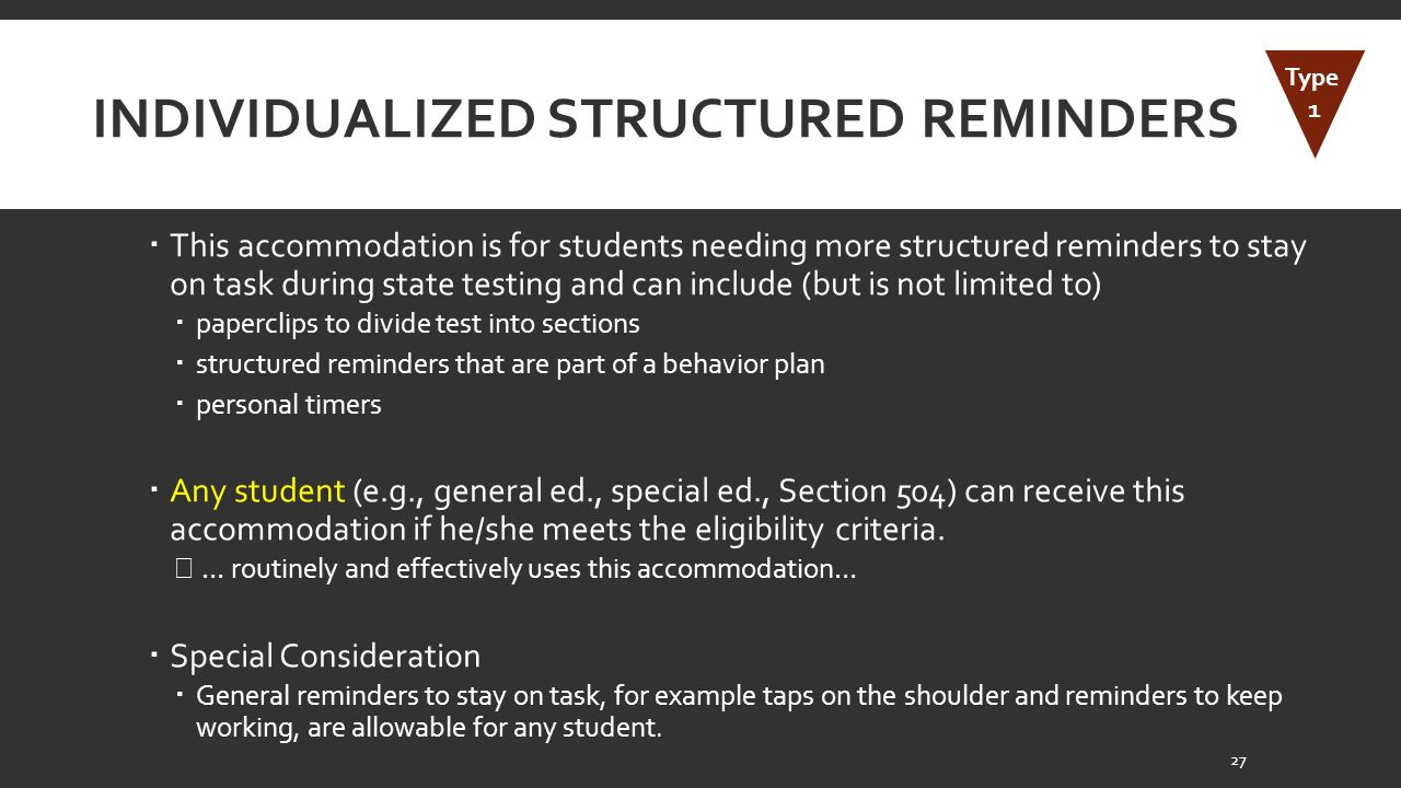 Individualized Structured Reminders