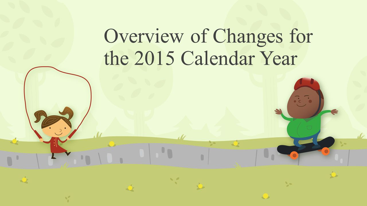 Overview of Changes for the 2015 Calendar Year