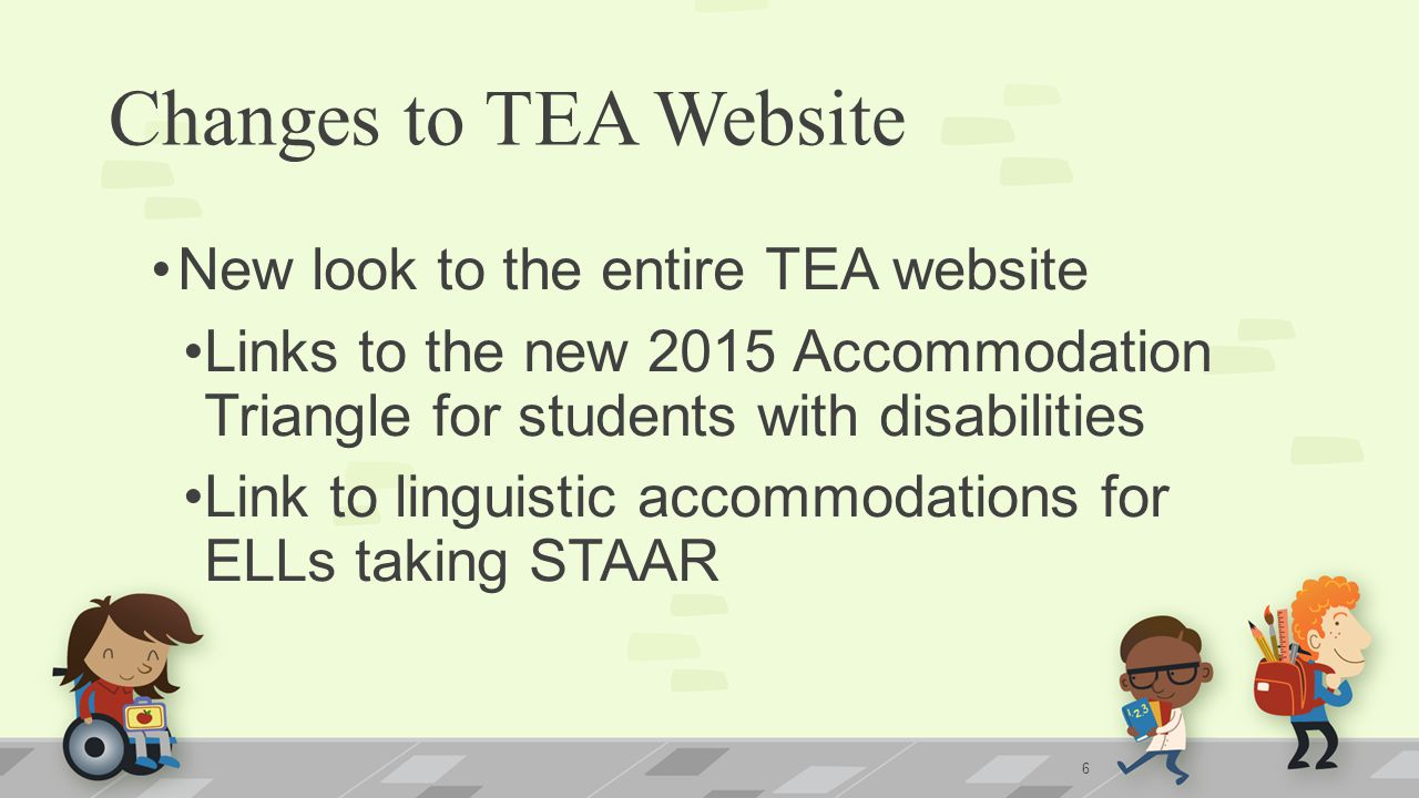 Changes to TEA Website New look to the entire TEA website