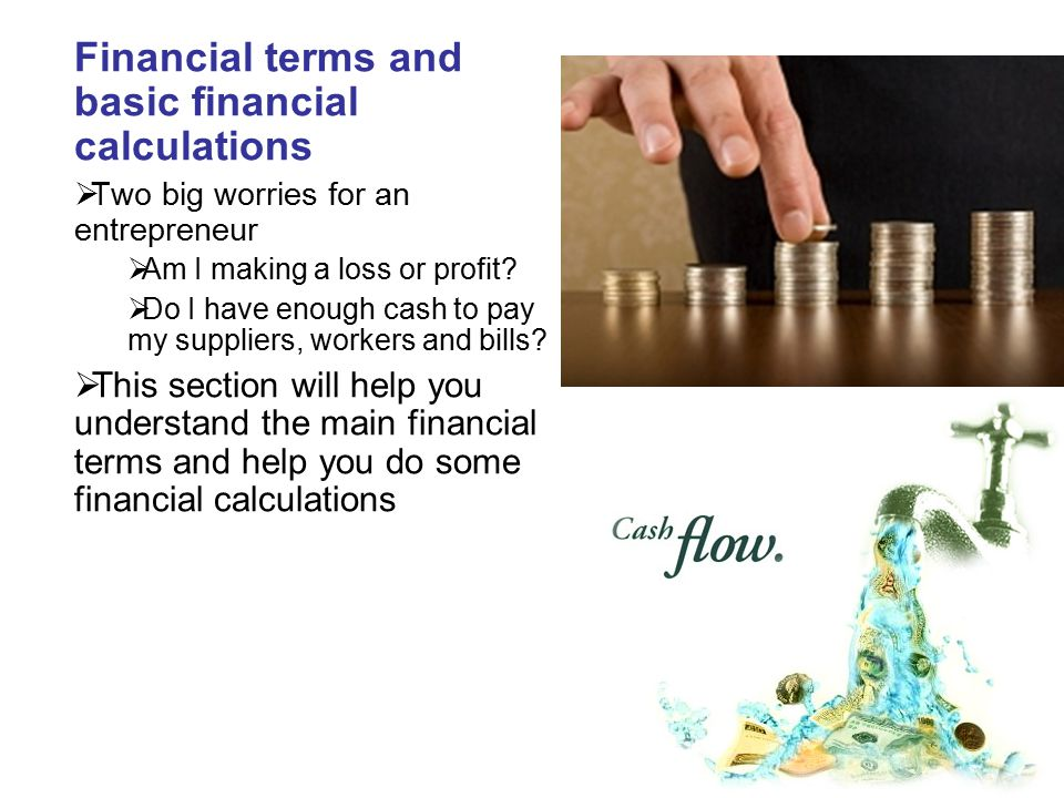 Financial terms and basic financial calculations