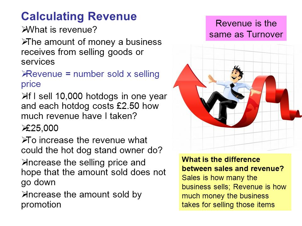 Revenue is the same as Turnover