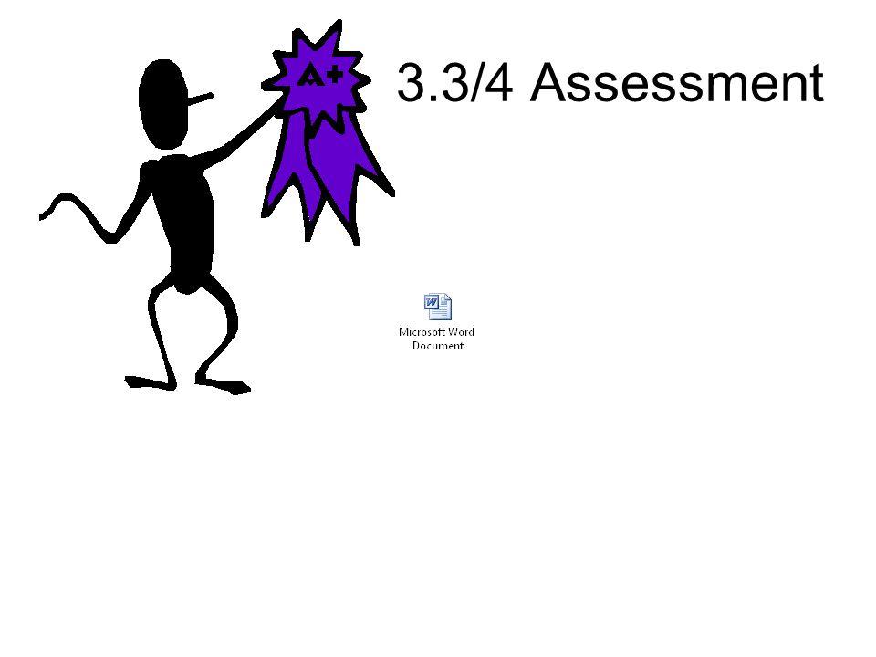 3.3/4 Assessment