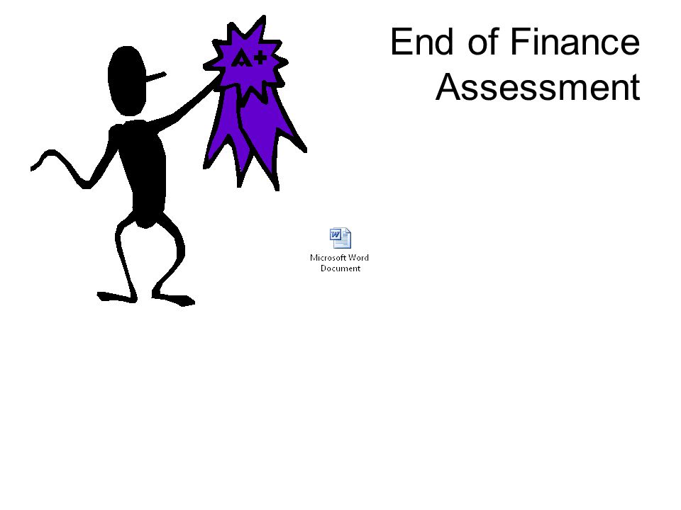 End of Finance Assessment