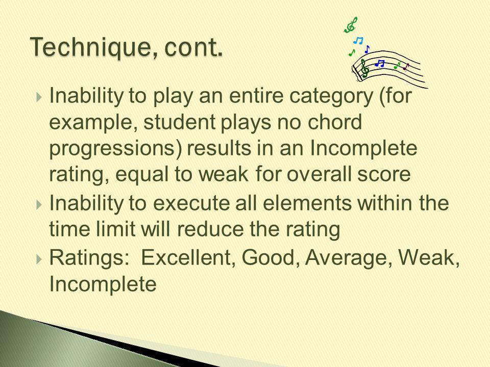 Technique, cont.