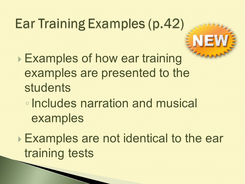 Ear Training Examples (p.42)