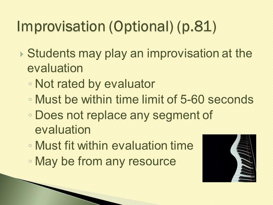 Improvisation (Optional) (p.81)