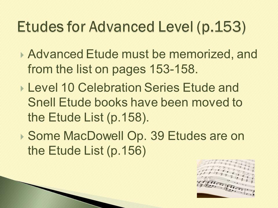 Etudes for Advanced Level (p.153)