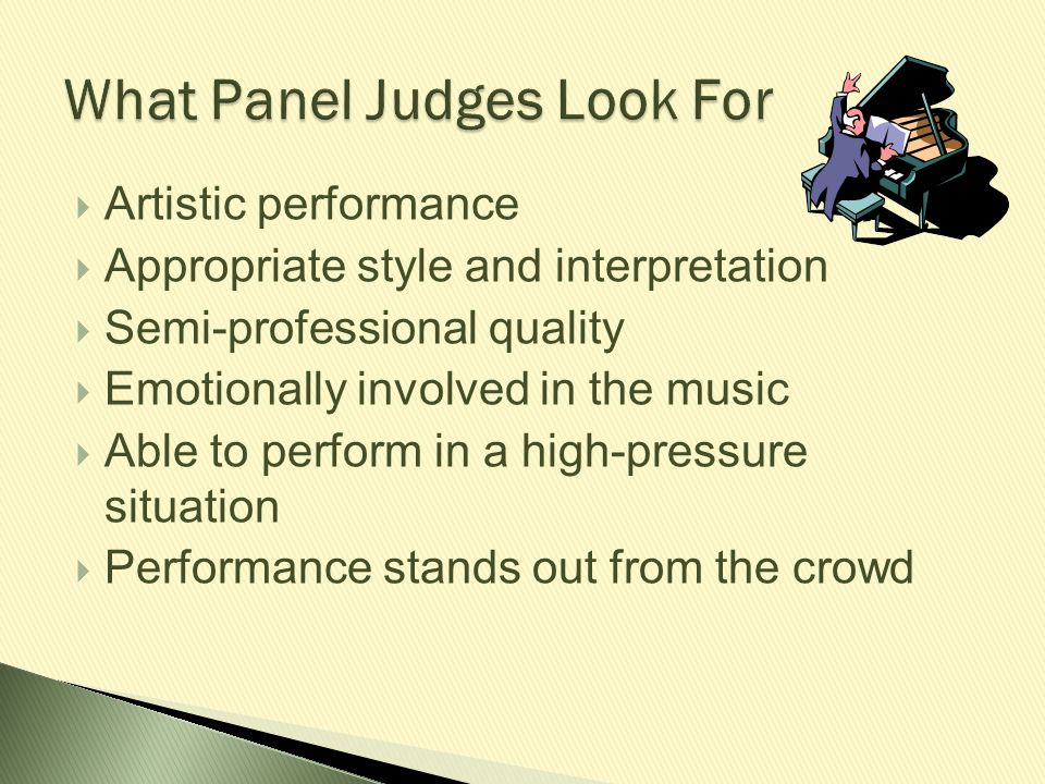 What Panel Judges Look For