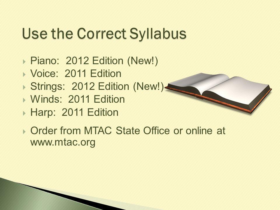 Use the Correct Syllabus