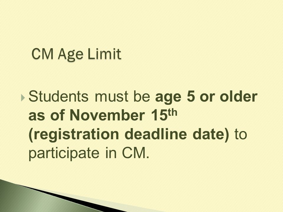 Age limits for dating