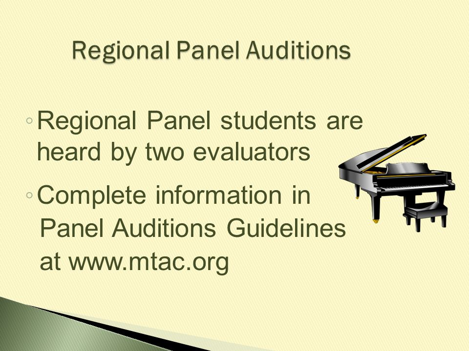 Regional Panel Auditions