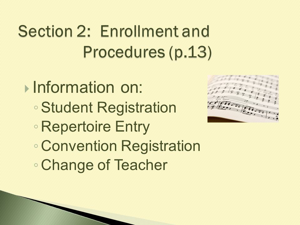 Section 2: Enrollment and Procedures (p.13)