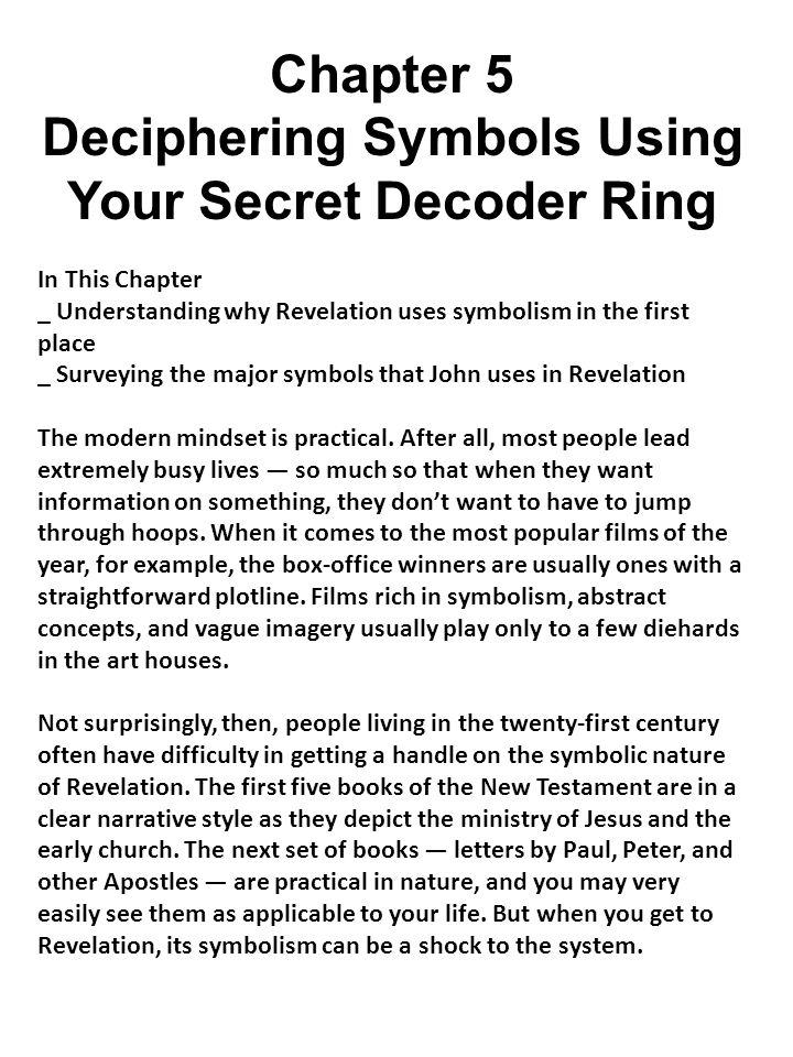 Deciphering Symbols Using Your Secret Decoder Ring