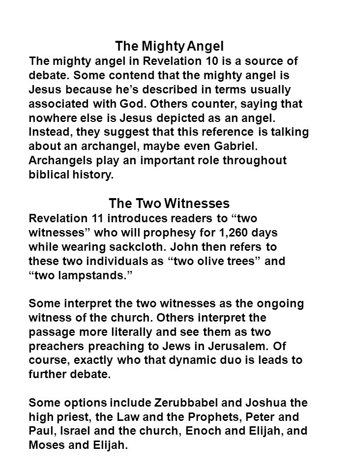 The Mighty Angel The Two Witnesses