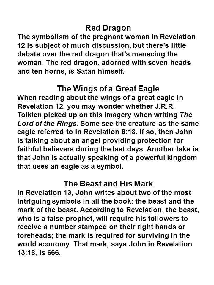 The Wings of a Great Eagle