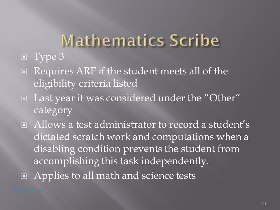 Mathematics Scribe Type 3