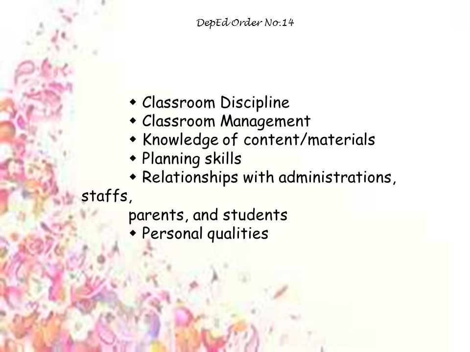  Classroom Discipline  Classroom Management