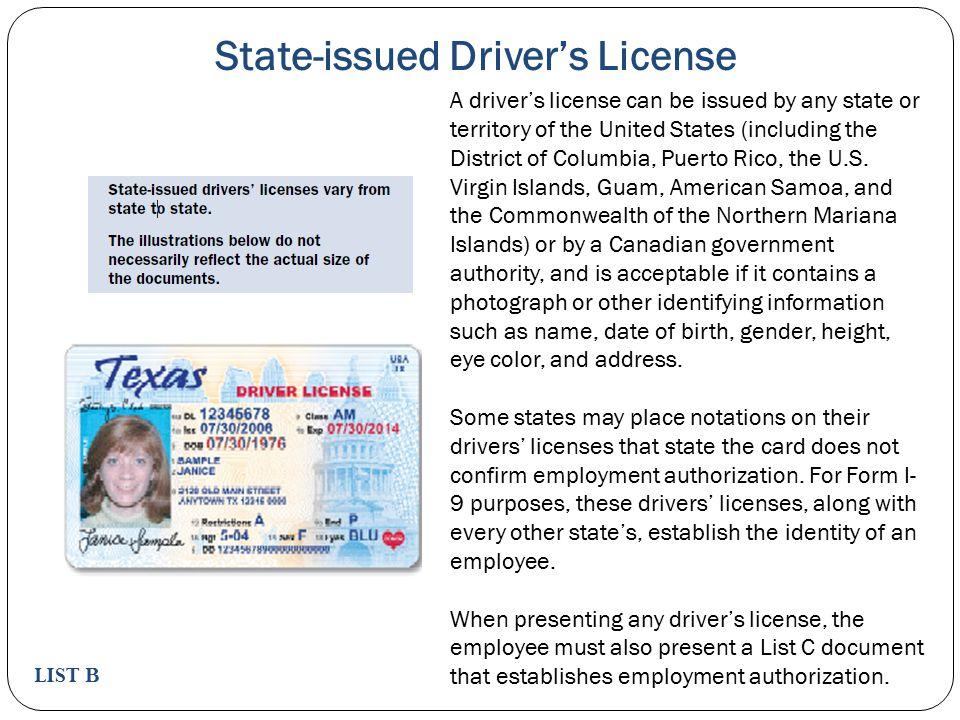 State-issued Driver's License